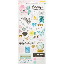 "Chasing Dreams Stickers with Gold Foil Maggie Holmes 6""X12"""