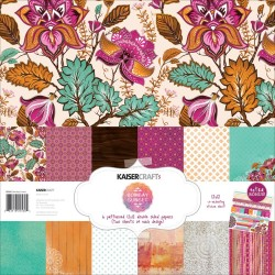 "Bombay Sunset Paper Pack 12""X12"" 12 Pkg Kaisercraft"