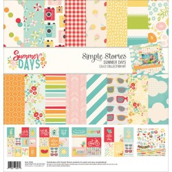"Summer Days Collection Kit 12""x12"" Simple Stories"