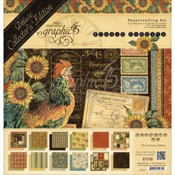 """French Country Papercrafting Set 12""""x12"""" Deluxe Collector's Edition Graphic 45"""