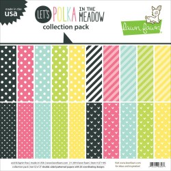 "Let's Polka In The Meadow Collection Pack 12""x12"" Lawn Fawn"