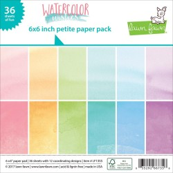 "Watercolor Wishes Petite Paper Pack 6""x6"" Lawn Fawn"