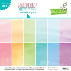 "Watercolor Wishes Collection Pack 12""x12"" Lawn Fawn"