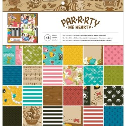 "Par-R-Rty Me Hearty Paper Pad 12x12"" American Crafts"