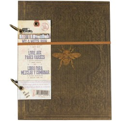 "Faux Leather With Gold Bee Architextures 2-Ring Mix & Match Book 8.5""x11"" 7 Gypsies"