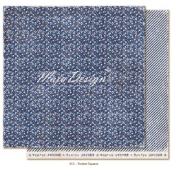 "Carta Pocket Square 12""x12"" Denim & Friends Collection Maja Design"