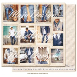 "Carta Guys in Jeans Snapshots 12""x12"" Denim & Friends Collection Maja Design"