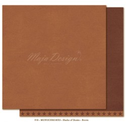 "Brown Monochromes - Shades of Denim 12""x12"" Maja Design"