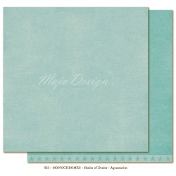 "Aquamarine Monochromes - Shades of Denim 12""x12"" Maja Design"