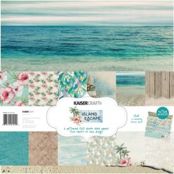 "Island Escape Paper Pack 12""X12"" 12 Pkg Kaisercraft"