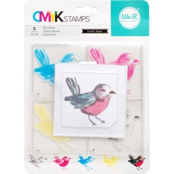 "Bird CMYK Stamp Kit 3""x3"" We R Memory Keepers"