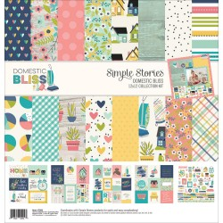 "Domestic Bliss Collection Kit 12""x12"" Simple Stories"