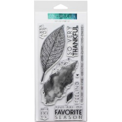 """Lace Leaf Clear Stamps 4""""x8"""" Concord & 9th"""