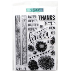 """Petals & Pallets Clear Stamps 6""""x8"""" Concord & 9th"""