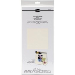 "Cream Mat Board Pack 6"" x 13"" sizzix"