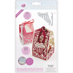 Cupcake & Treat Box Dimensions Dies Tonic Studios
