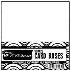 "White Square Cards With Envelopes 6""x6"" 12 Pkg Brutus/Monroe"