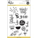 """Little Things Clear Stamp Set 4""""x6"""" Pinkfresh Studio"""