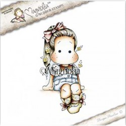 Timbro Country Tilda Magnolia Rubber Stamp - CG17