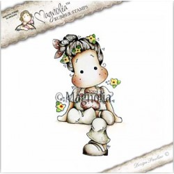 Timbro Sitting Tilda With Clogs Magnolia Rubber Stamp - CG17
