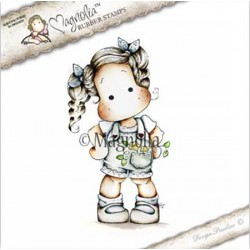 Timbro Tilda With Flowers in Her Pocket Magnolia Rubber Stamp - CG17