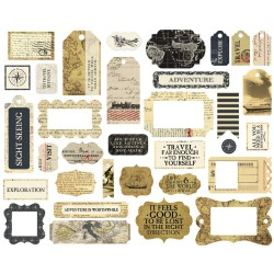 Transatlantic Travel Frames & Tags Ephemera Die Cut Cardstock Pieces Carta Bella