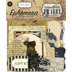 Transatlantic Travel Ephemera Die Cut Cardstock Pieces Carta Bella