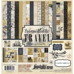 "Transatlantic Travel Collection Kit 12""x12"" Carta Bella"