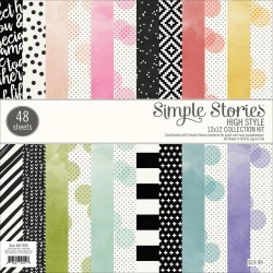 "High Style Collection Kit 12"" x 12"" Simple Stories"