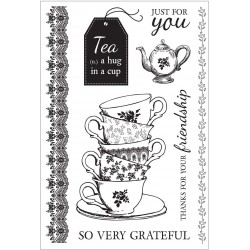 "High Tea Clear Stamps 6""x4"" Kaisercraft"