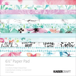 "Wildflower 6 1/2""x6 1/2"" Paper Pad Kaisercraft"