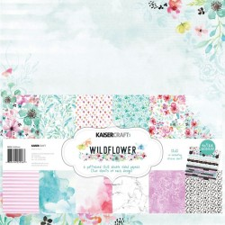 "Wildflower Paper Pack 12""X12"" 12 Pkg Kaisercraft"