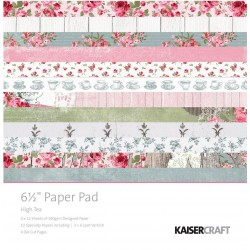 "High Tea 6 1/2""x6 1/2"" Paper Pad Kaisercraft"