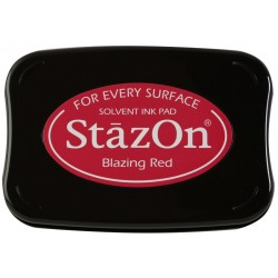 Blazing Red Staz On Solvent Ink Pad