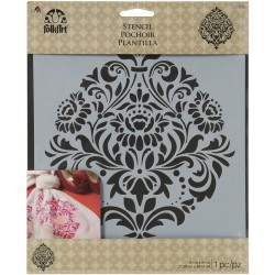 "Damask 2 Stencil 8,5""x9,5"" FolkArt Home Decor Plaid"