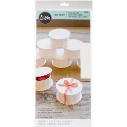"White Mat Board Pack 6"" x 13"" sizzix"