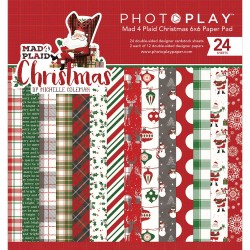 "Mad 4 Plaid Christmas 6""x6"" Paper Pad PhotoPlay"