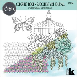 Succulent Art Journal coloring Book sizzix