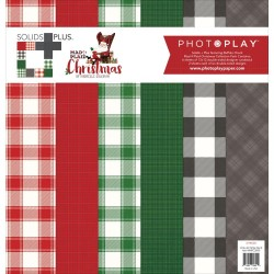 "Mad 4 Plaid Christmas Solids Plus 12""x12"" Collection Pack PhotoPlay"