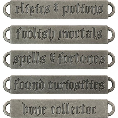 Halloween Metal Word Bands Idea-ology by Tim Holtz