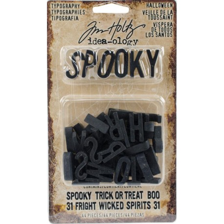 Halloween Black Typography Idea-ology by Tim Holtz