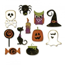 Mini Halloween Things Thinlits Dies by Tim Holtz Sizzix