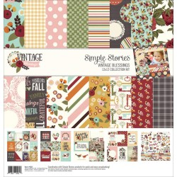 """Vintage Blessings Collection Kit 12""""x12"""" Simple Stories"""