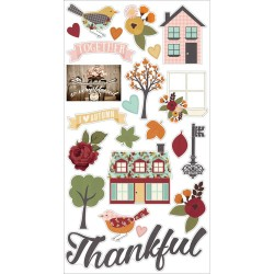 """Vintage Blessings Combo Cardstock Stickers 12""""x12"""" Simple Stories"""
