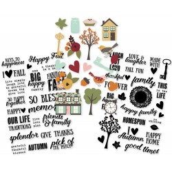 """Vintage Blessings Clear Stickers 4"""" x 6"""" 8 Pkg Simple Stories"""