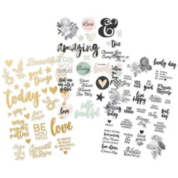 "Beautiful Clear Stickers 4"" x 6"" Simple Stories"