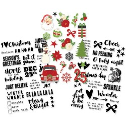 "Very Merry Clear Stickers 4"" x 6"" Simple Stories"