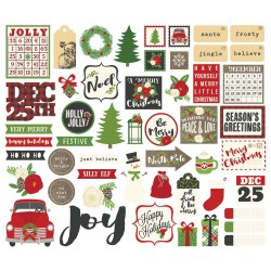 Very Merry Bits & Pieces Die-cuts 51 Pkg Simple Stories
