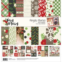 "Very Merry Collection Kit 12""x12"" Simple Stories"