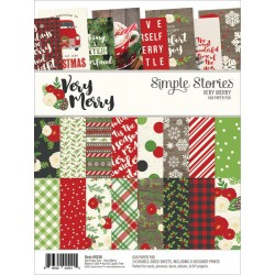 "Very Merry Paper Pad 6""x8"" Simple Stories"
